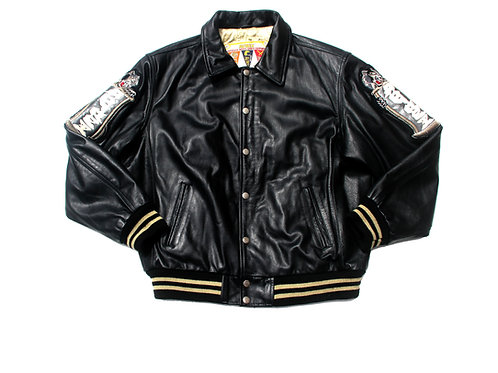 Avirex 'Speed Tigers' Leather Jacket - L