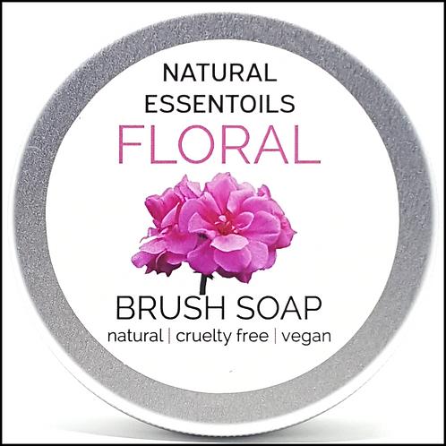 Floral Brush Soap