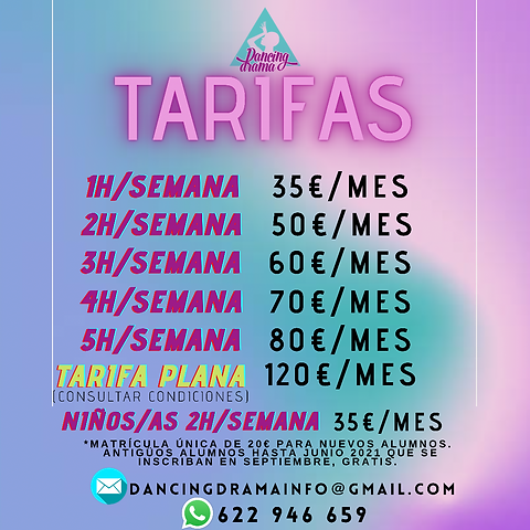 tarifas clases