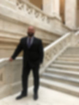 Ross Grant on the steps in the Arkansas State Capitol