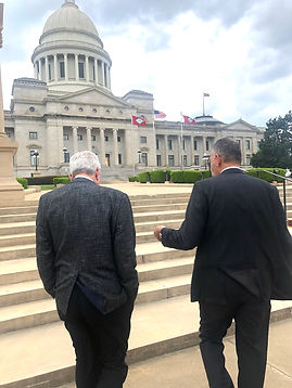 Lobbyist and government relations walking to state capitol