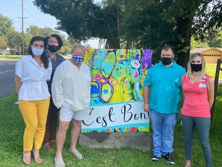 Third Art Wrapped Traffic Box Unveiled in Opelousas