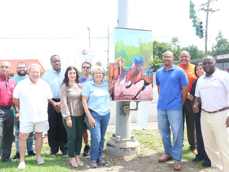 Eighth Art Wrapped Traffic Box Unveiled in Opelousas