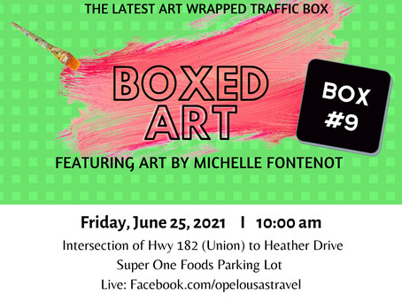 Ninth Opelousas Art Wrapped Traffic Signal Box Scheduled for Unveiling on June 25th