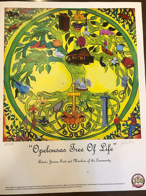 Opelousas Tree of Life Mural (Poster)