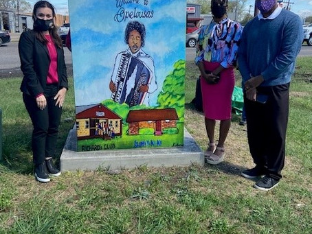 Creole-Zydeco Themed Art Wrapped Traffic Boxed Unveiled in Opelousas