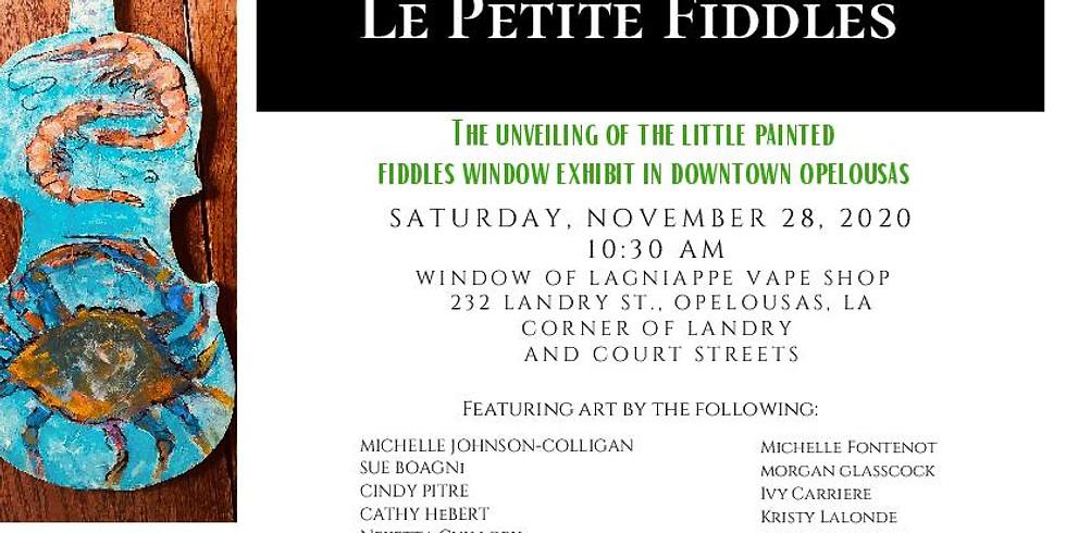 Le Petite Fiddles Exhibit Coming to Downtown Opelousas