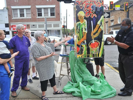 Art Wrapped Traffic Box Unveiled in Downtown Opelousas