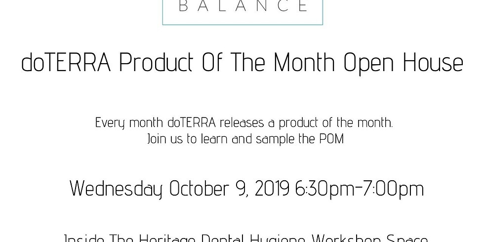 doTERRA Product Of The Month Open House