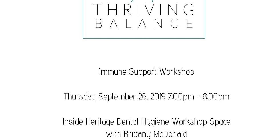Immune Support Workshop