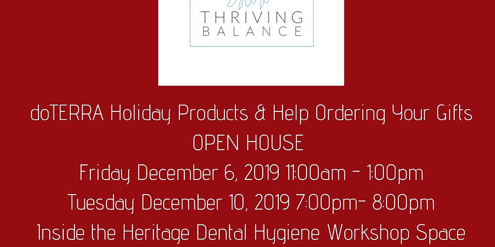 doTERRA Holiday Products & Help Ordering Your Gifts Open House