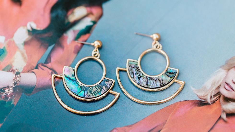Gold semicircle Earrings