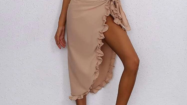 Ruffle Cover Up Skirt