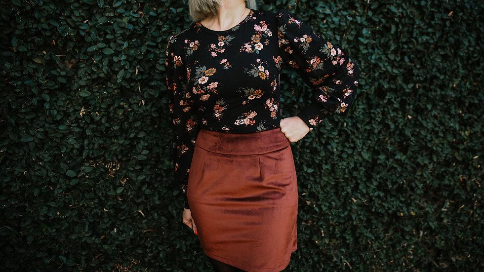 The Blossom| Velvet Skirt