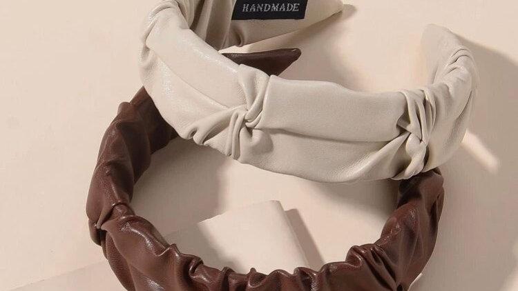 PU Leather Alicebands