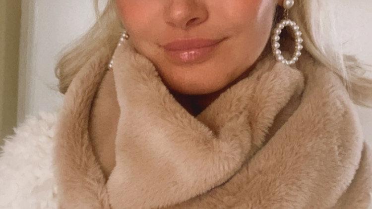Soft Camel fluffy scarf