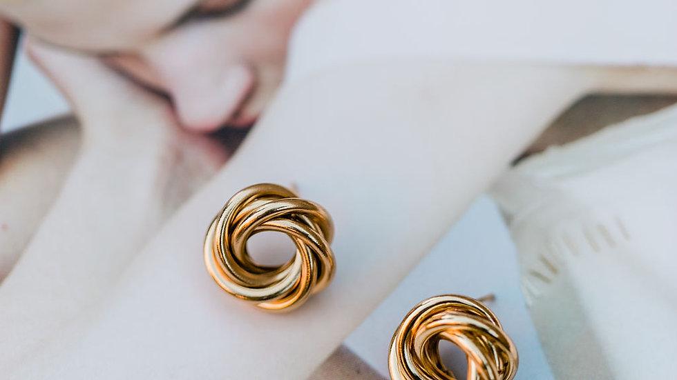 Small Twist Stud Earrings