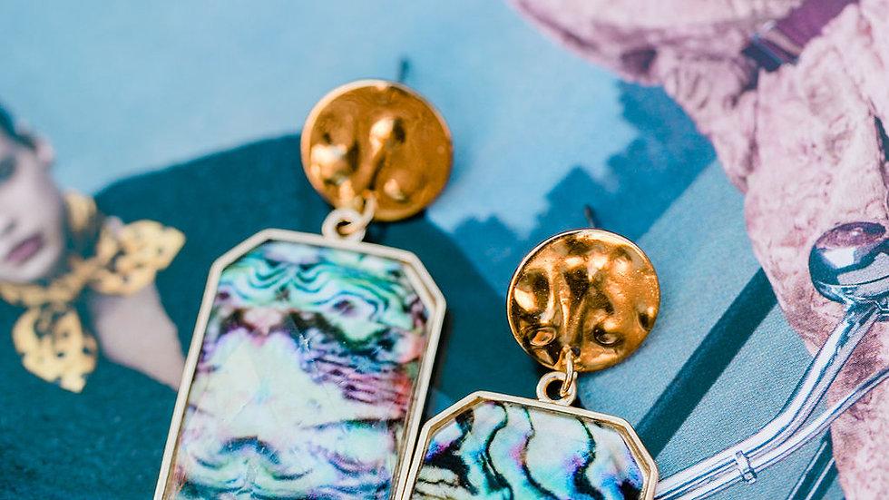 Gold Geo Shell Earrings