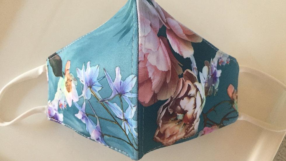Blue Blossom Mask