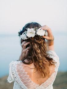 Corona novia flores preservadas