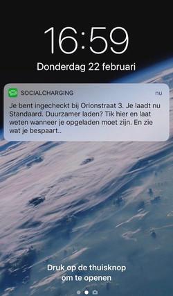 Ingecheckt - Groenradar push message