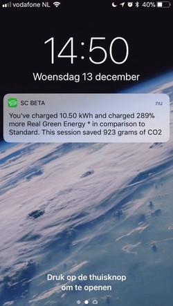 push message feedback real green charging