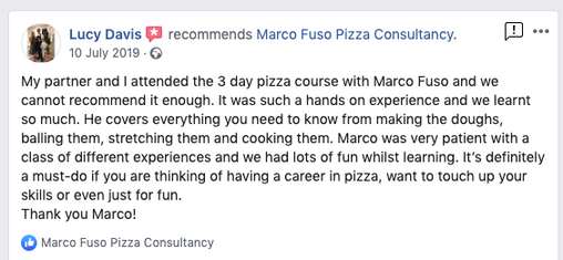 Review Pizza training Dough London