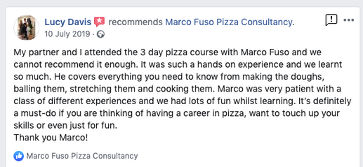 Pizza Training Review London by Marco Fuso