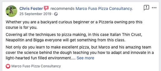 Pizza chefs Testimonials Manchester