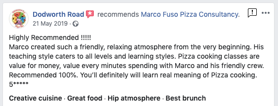 Pizza Courses Testimonials 3 day in London