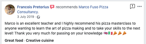 Review Pizza Training Course Liverpool