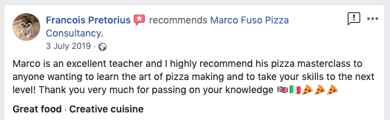 Review Professional Pizza Training Course Liverpool