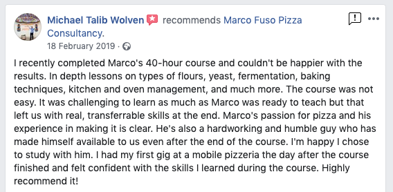 Pizza Classes Review London