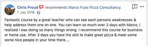 Review Professional Pizza Training Course London