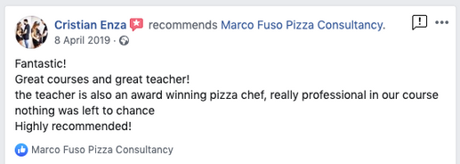 Pizza courses Training Review UK by Marco Fuso