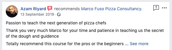 Review Professional Pizza Training Course Manchester