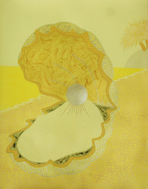 WAXING GIBBOUS OYSTER (YELLOW)