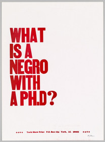 WHAT IS A NEGRO WITH A PH.D?