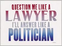 QUESTION ME LIKE A LAWYER I'LL ANSWER LIKE A POLITICIAN