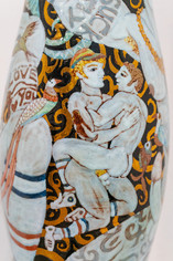 The Golden Cock Vase (Detail)