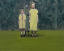 Figures on a Lawn