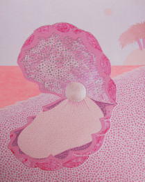 WAXING GIBBOUS OYSTER (PINK)