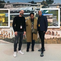 Artist, Viktor Popović, Armory Show Focus Section Curator, Jamillah James and C24 Gallery Director/Curator, David C. Terry