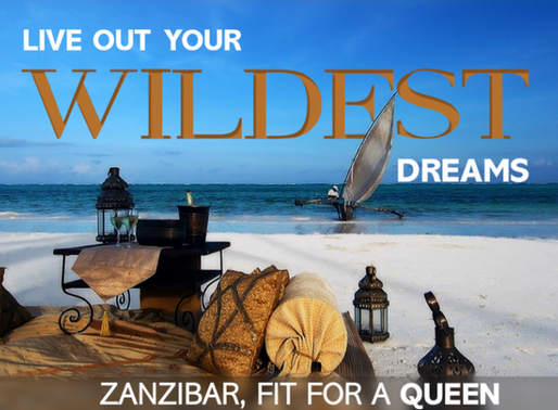 Zanzibar, fit for a queen.