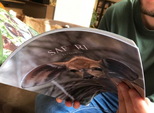 Why is 'Safari' a printed magazine?