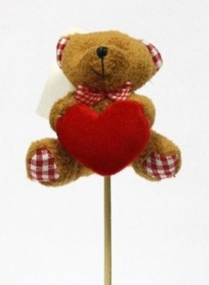 Pico Urso Peluche c/Coração