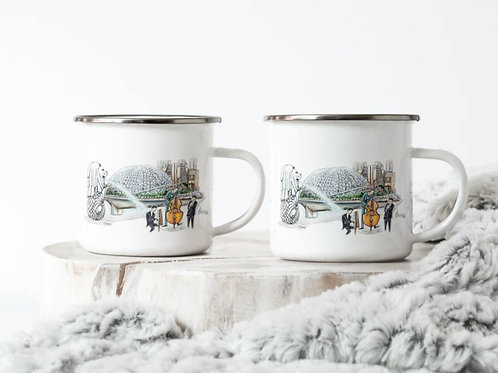 Enamel Mug (10 oz)  esplanade/Playgrounds