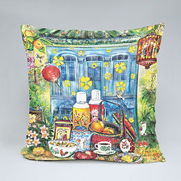 40 x 40 cm throw microfiber cushion and cover - Edenic Tea Notes