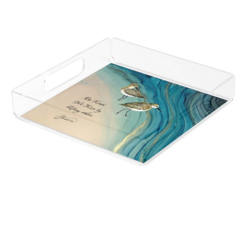 square acrylic tray -sandpipers.jpg