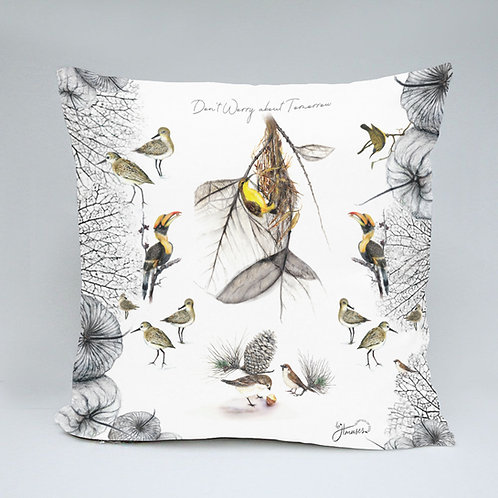 40 x 40 cm throw microfiber cushion and cover- The Wings Collection
